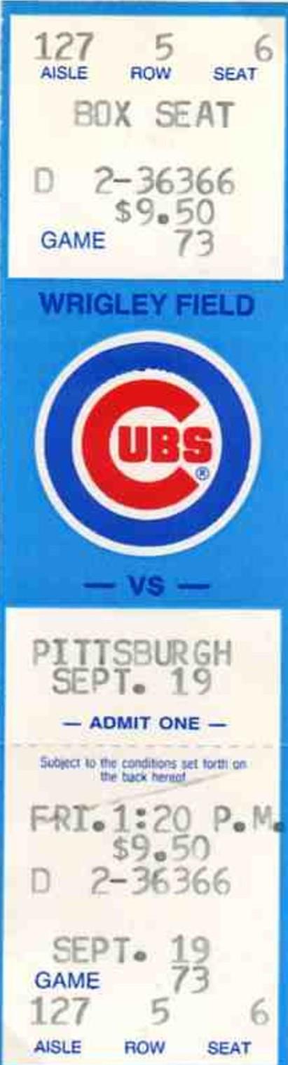 cub ticket