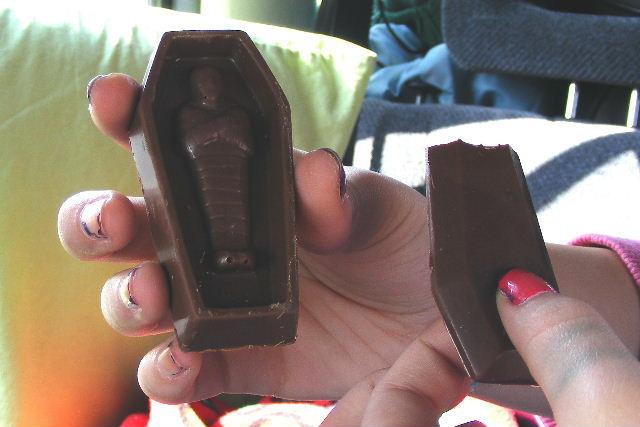 Chocolate coffin