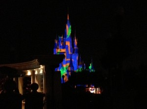 Light show on Cinderella's Castle