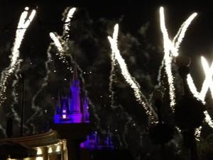 Fireworks and Cinderella's Castle