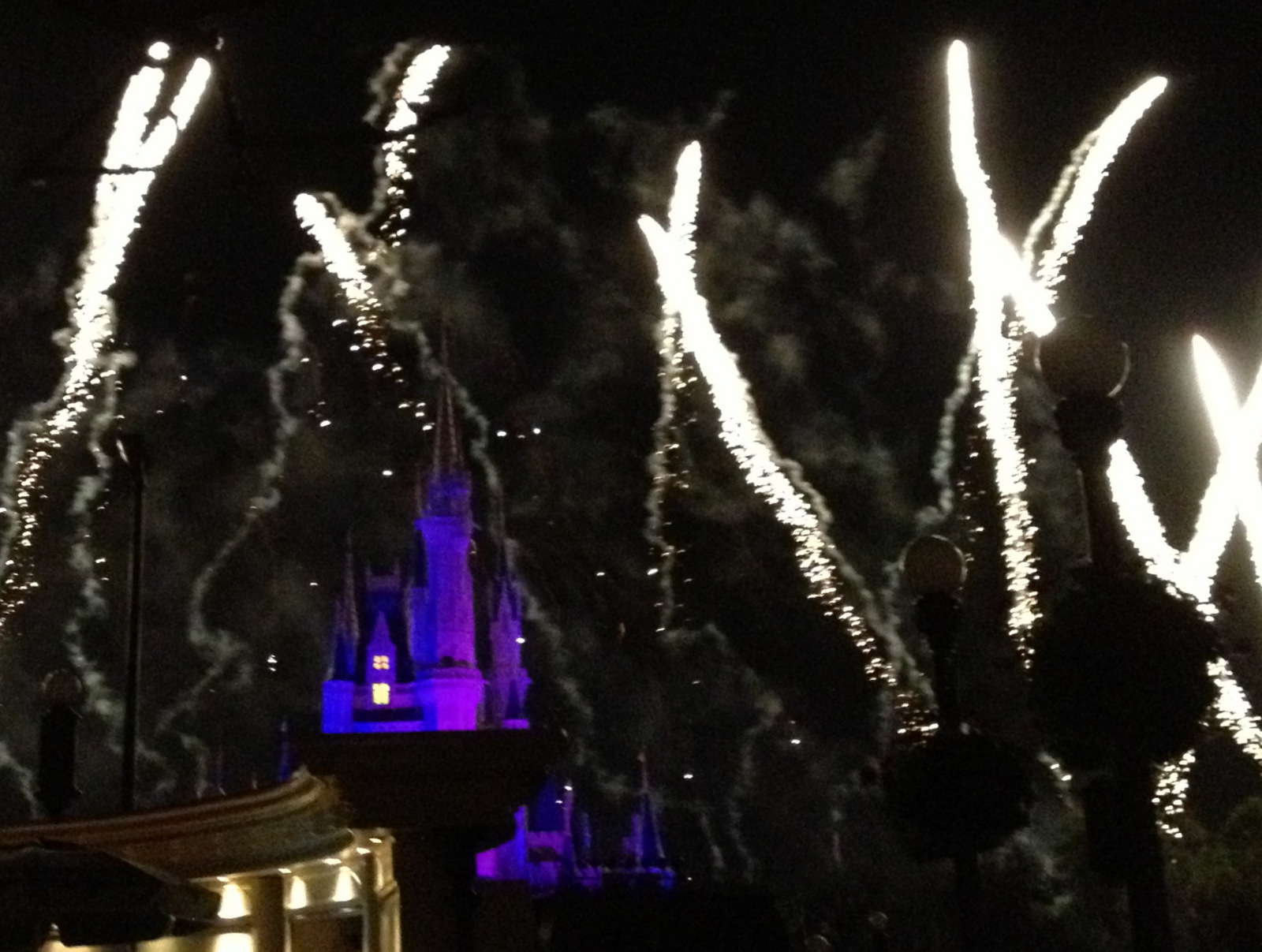 Fireworks and Cinderella's Castle