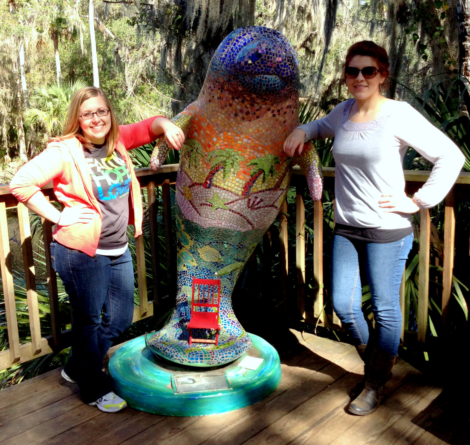 Julie and Michayla — Blue Spring State Park, Florida (1/19/13)