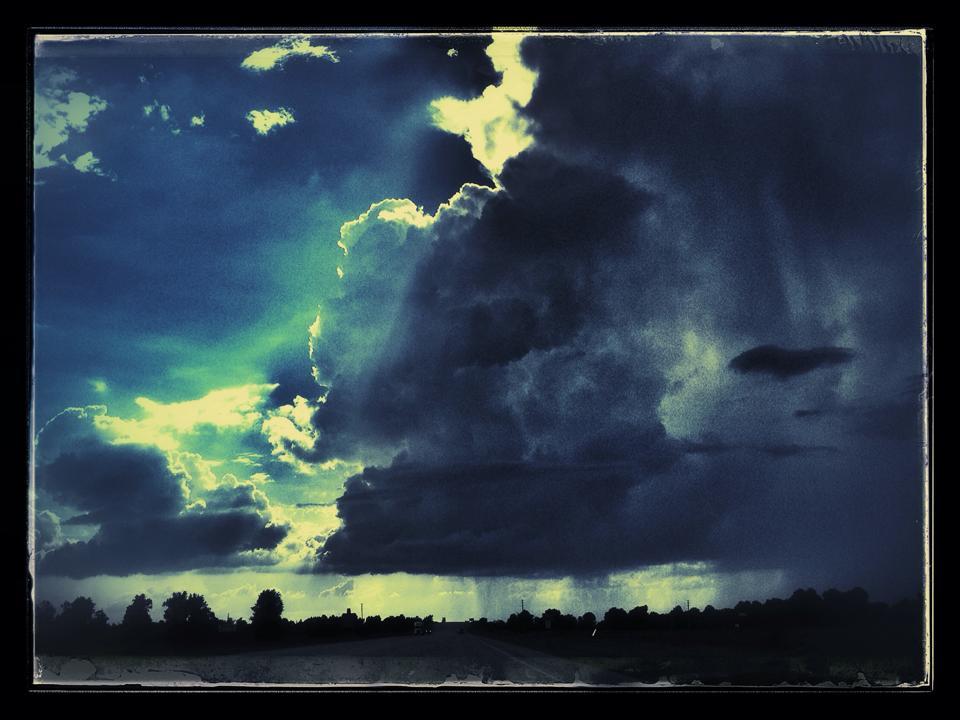 Raincloud over Hoxie