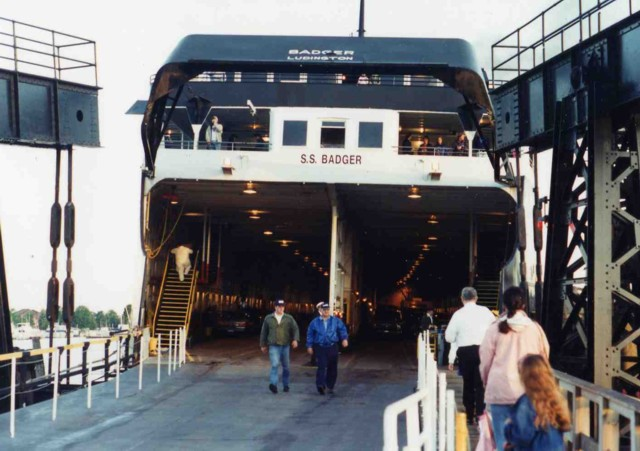 S.S. Badger loading in Ludington
