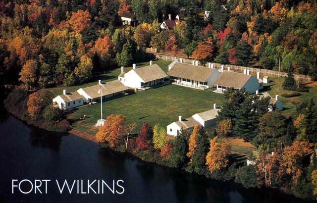 Fort Wilkins postcard view