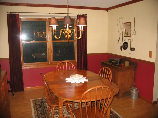 The finished dining room