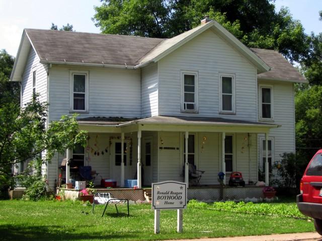 Reagan's boyhood home
