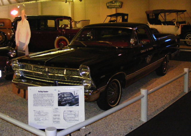 Elvis and his Ford Ranchero