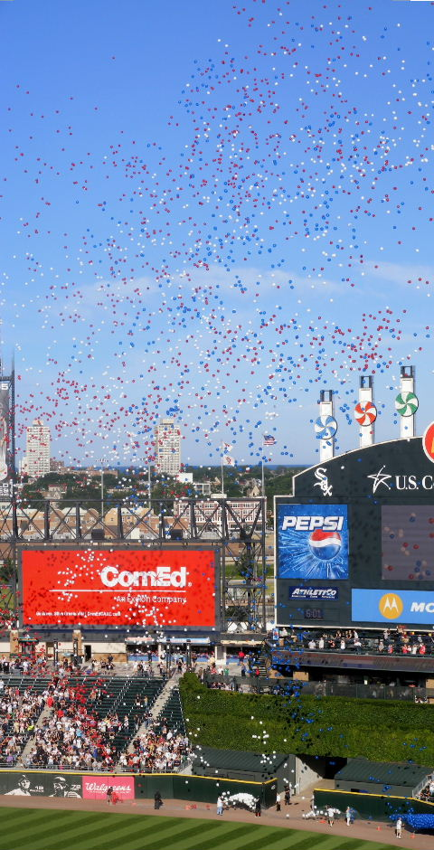 July 4 balloon launch at U.S. Cellular Field